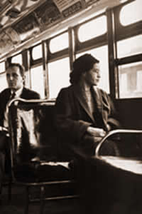 Rosa Parks changed America by sitting down