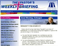 Click here to request The Pastor's Weekly Briefing